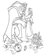 beauty and the beast coloring page # 6