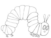 The Very Hungry Caterpillar Coloring Pages Free Coloring Pages