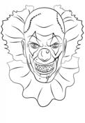Horror Clown Zum Ausmalen