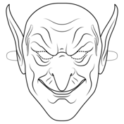green goblin mask coloring page