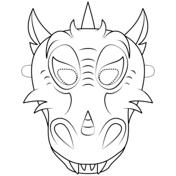 dragon mask coloring page