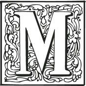 m coloring page # 14