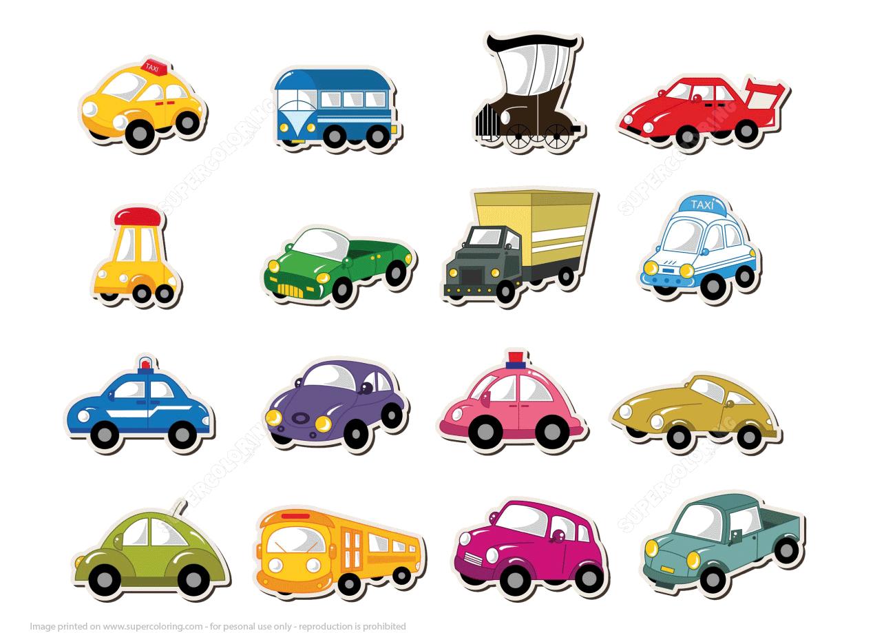Printable Transport Stickers