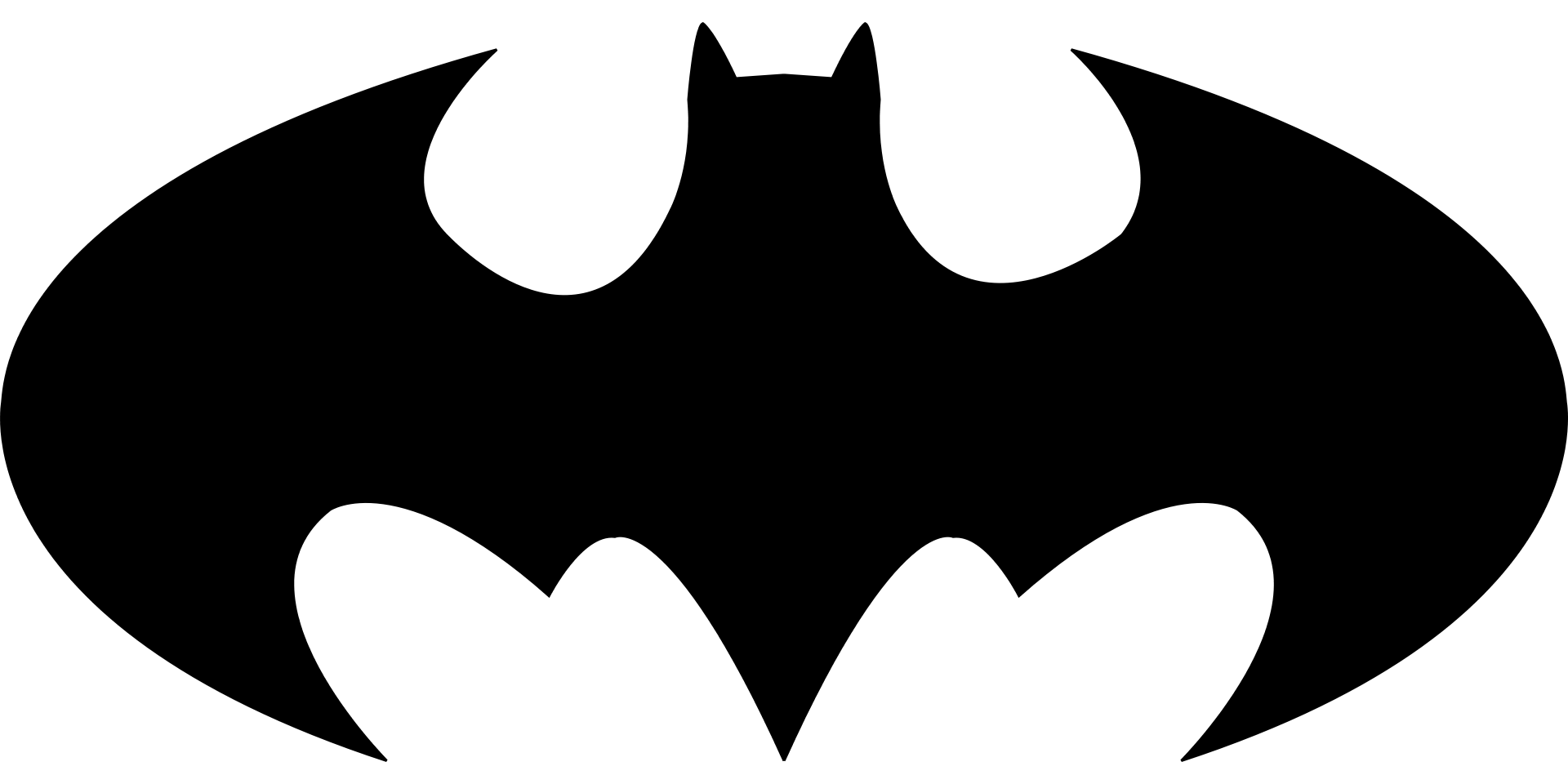 Batman Bat Sign Template
