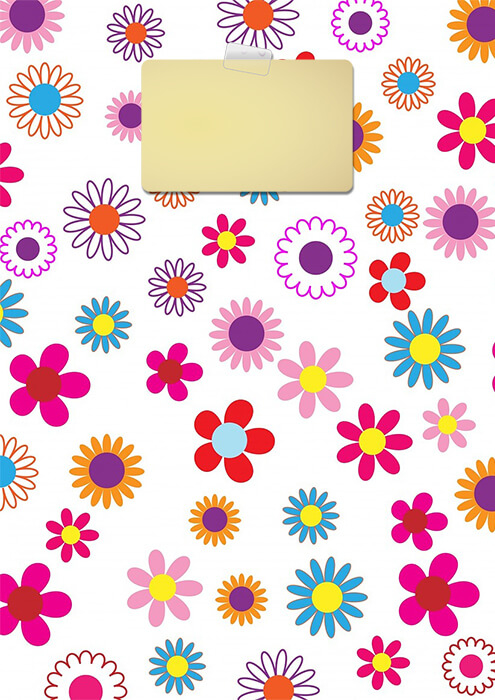 Colorful Floral Binder Cover Template Free Printable