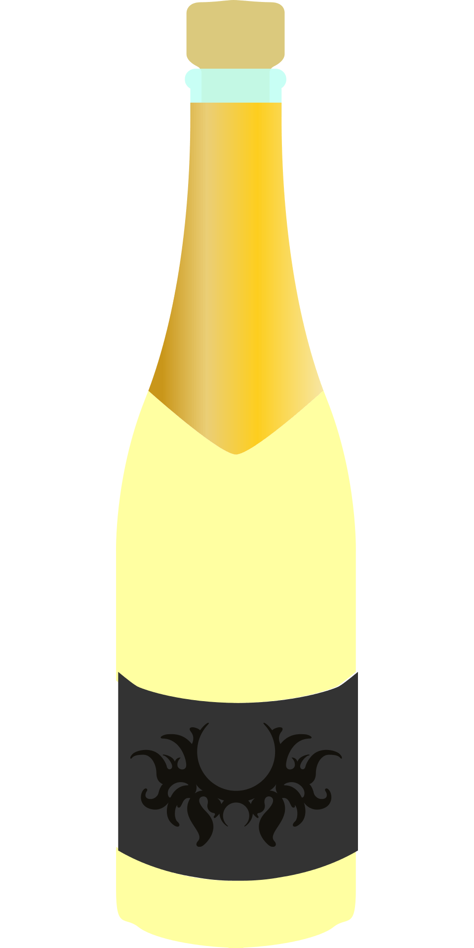 Champagne Bottle Photo Prop Free Printable Papercraft