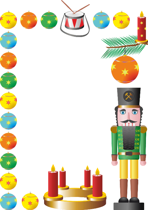 Christmas Nutcracker Border Free Printable Papercraft