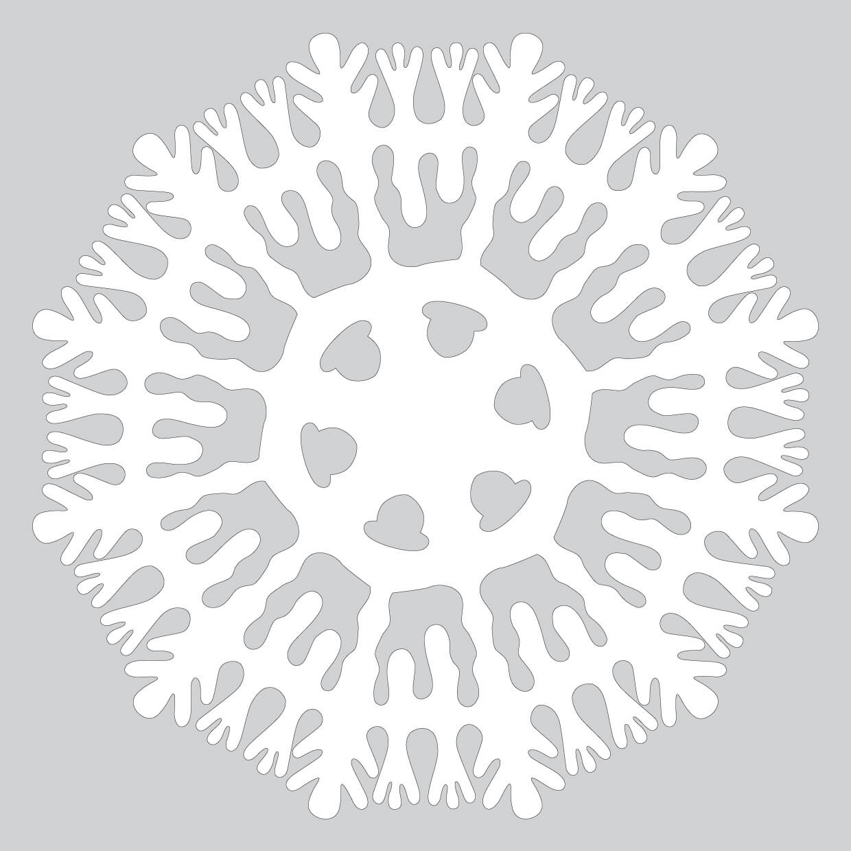 How To Make Liquid Paper Snowflake Pattern To Cut Out
