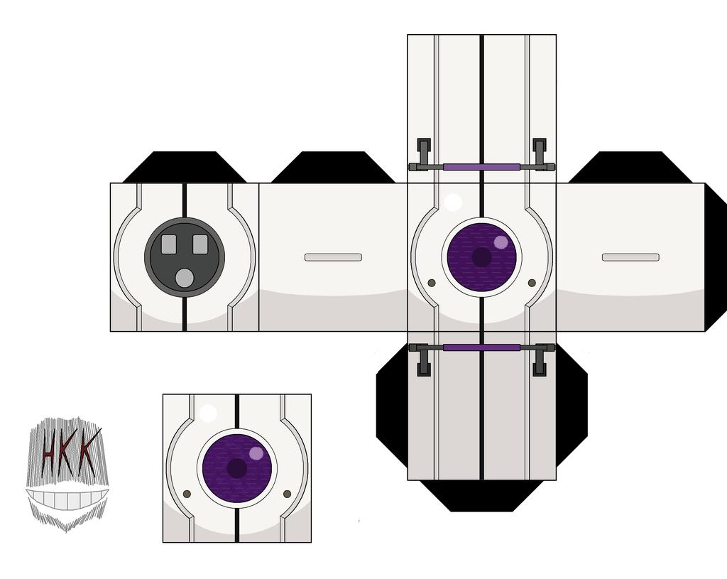 Papercraft Minecraft Turret Portal 2