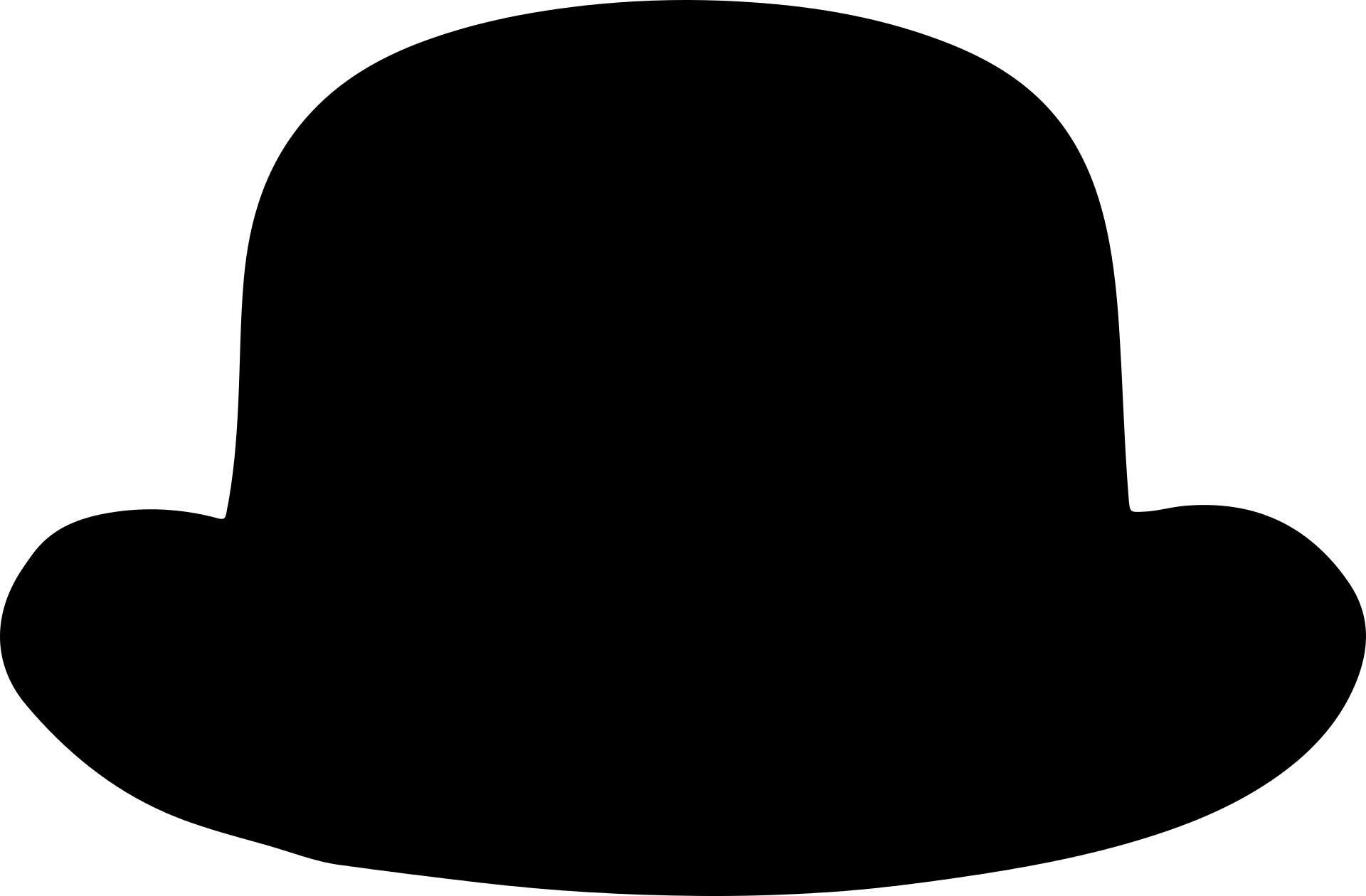 Bowler Classic Hat Template