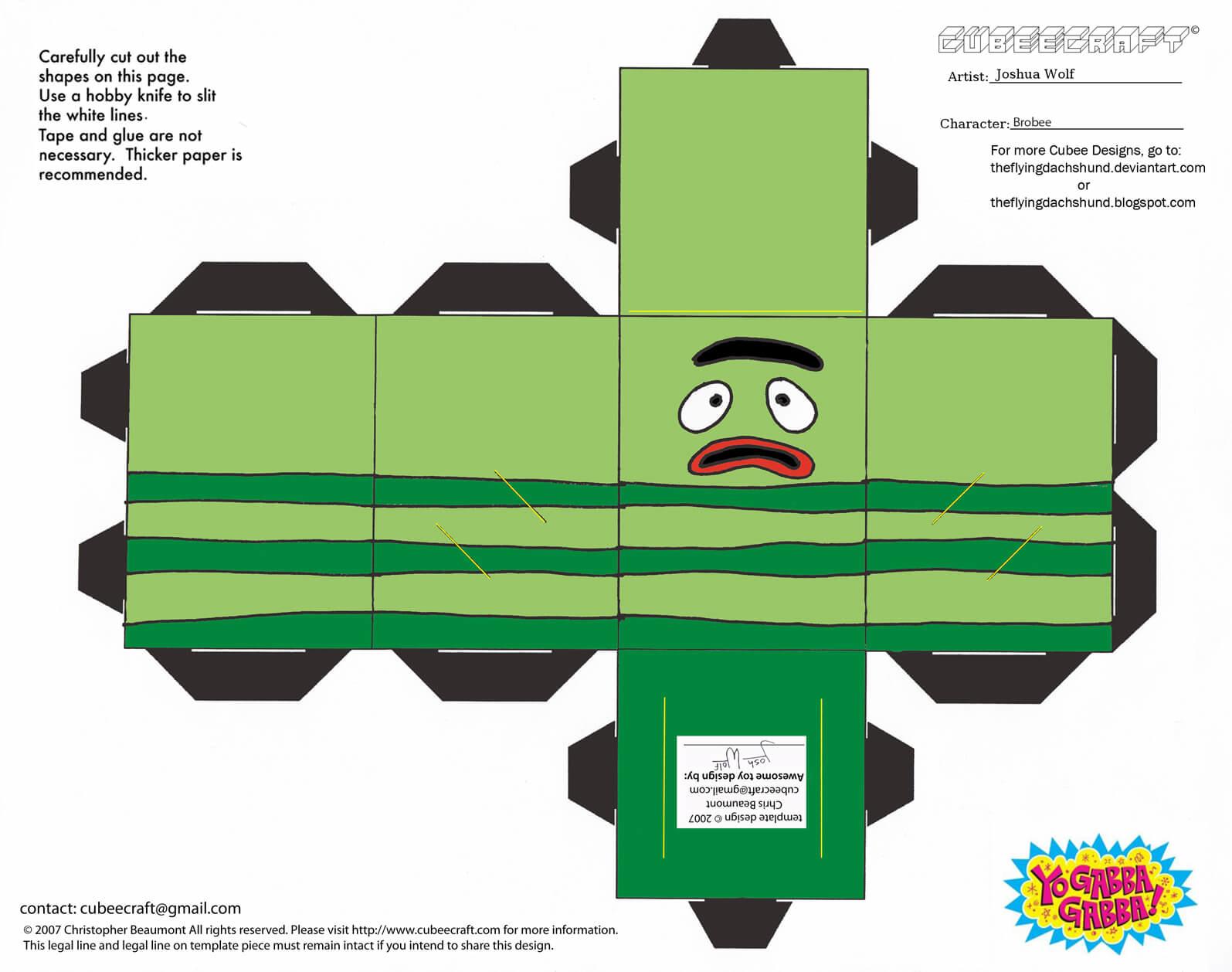 Emotional Brobee Paper Toy