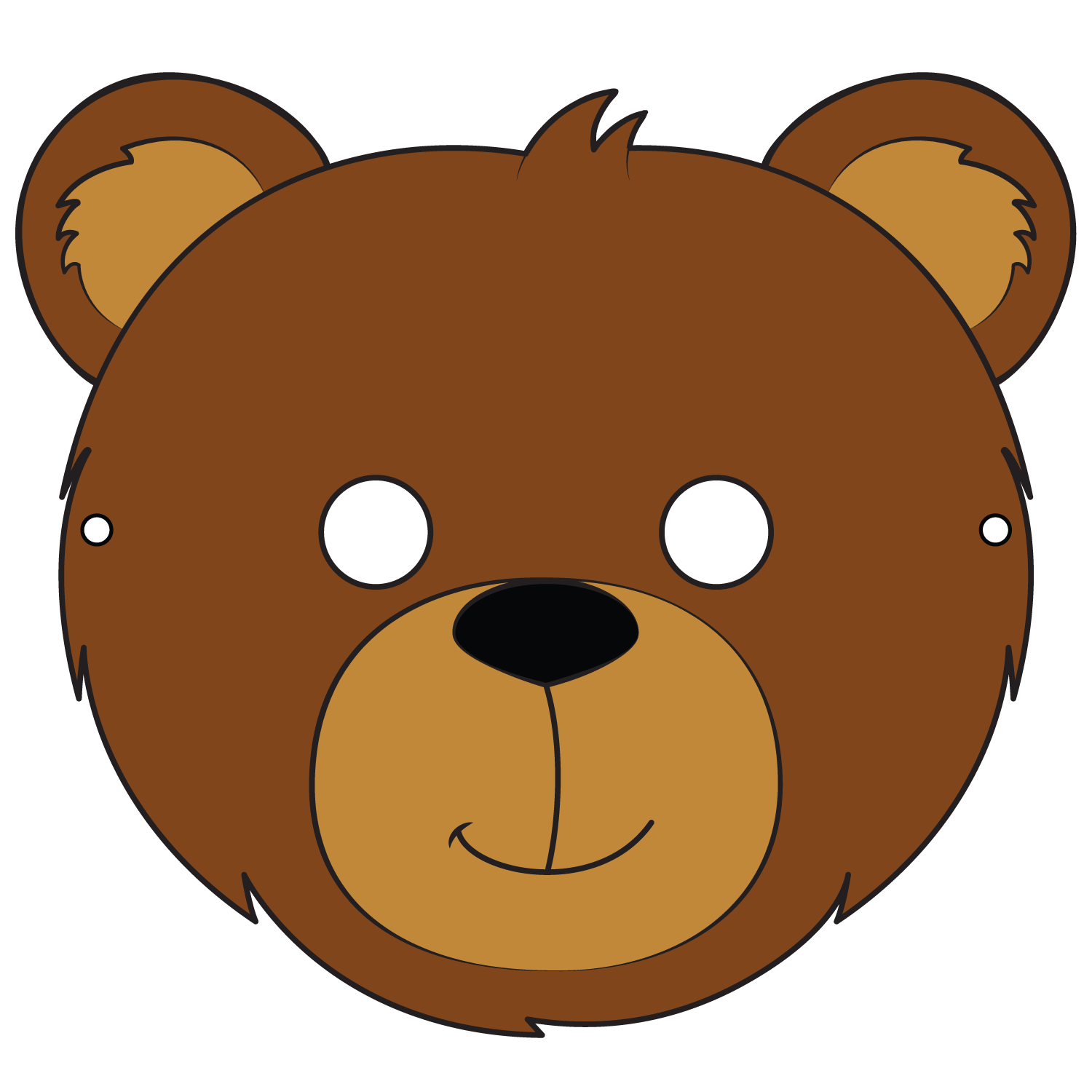 Bear Mask Template