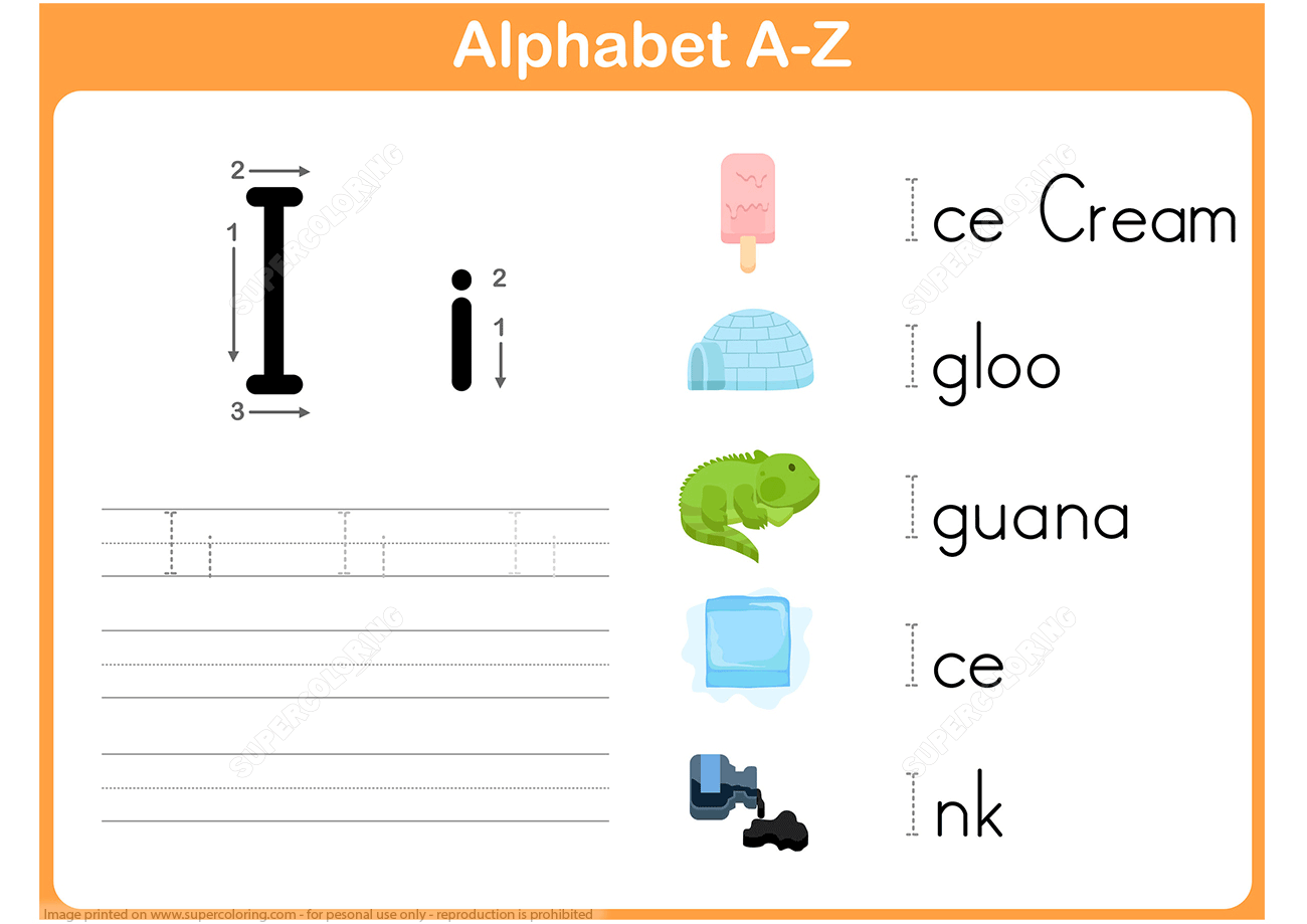 Worksheet Letter I Search