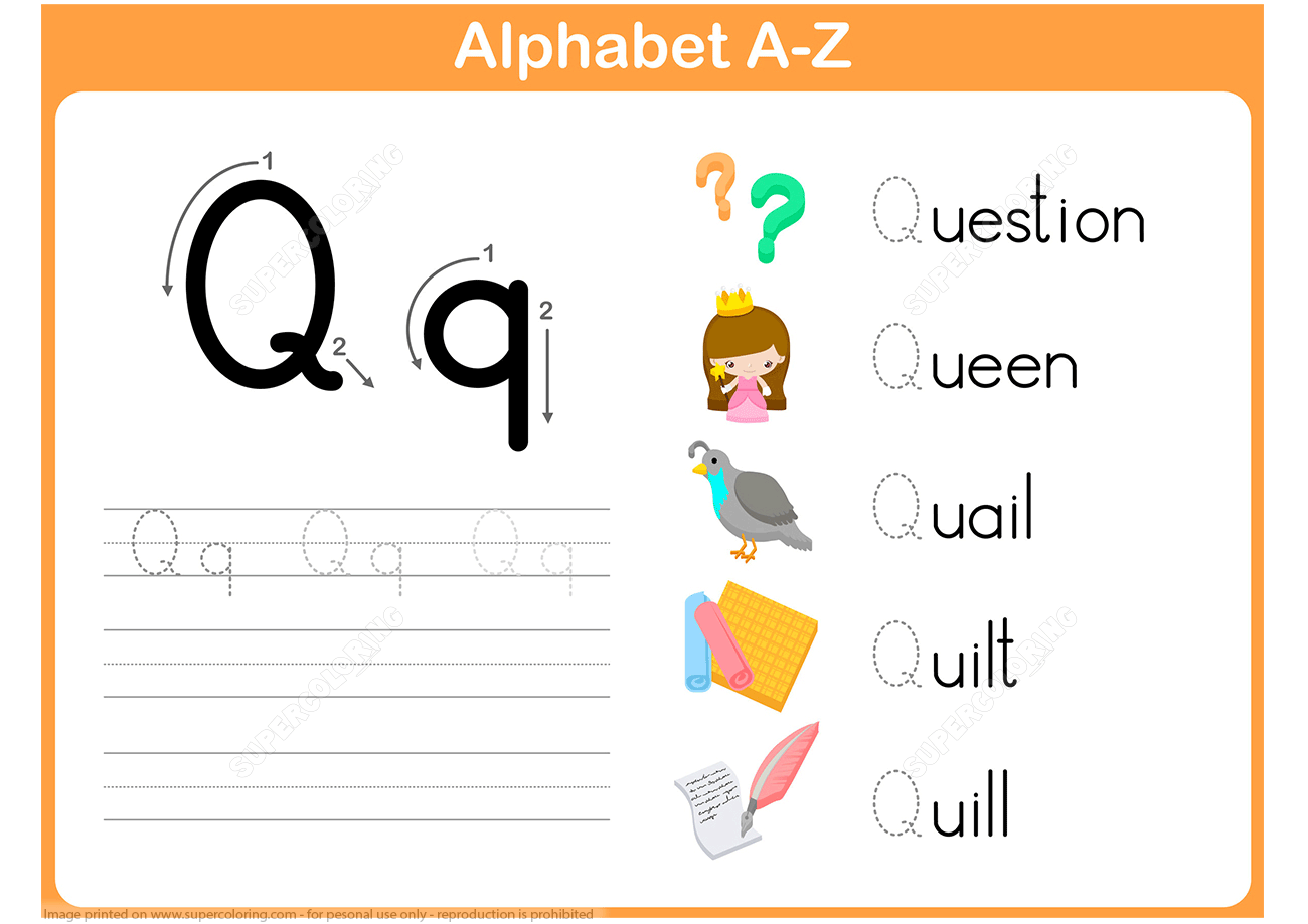 Letter Q Tracing Worksheet