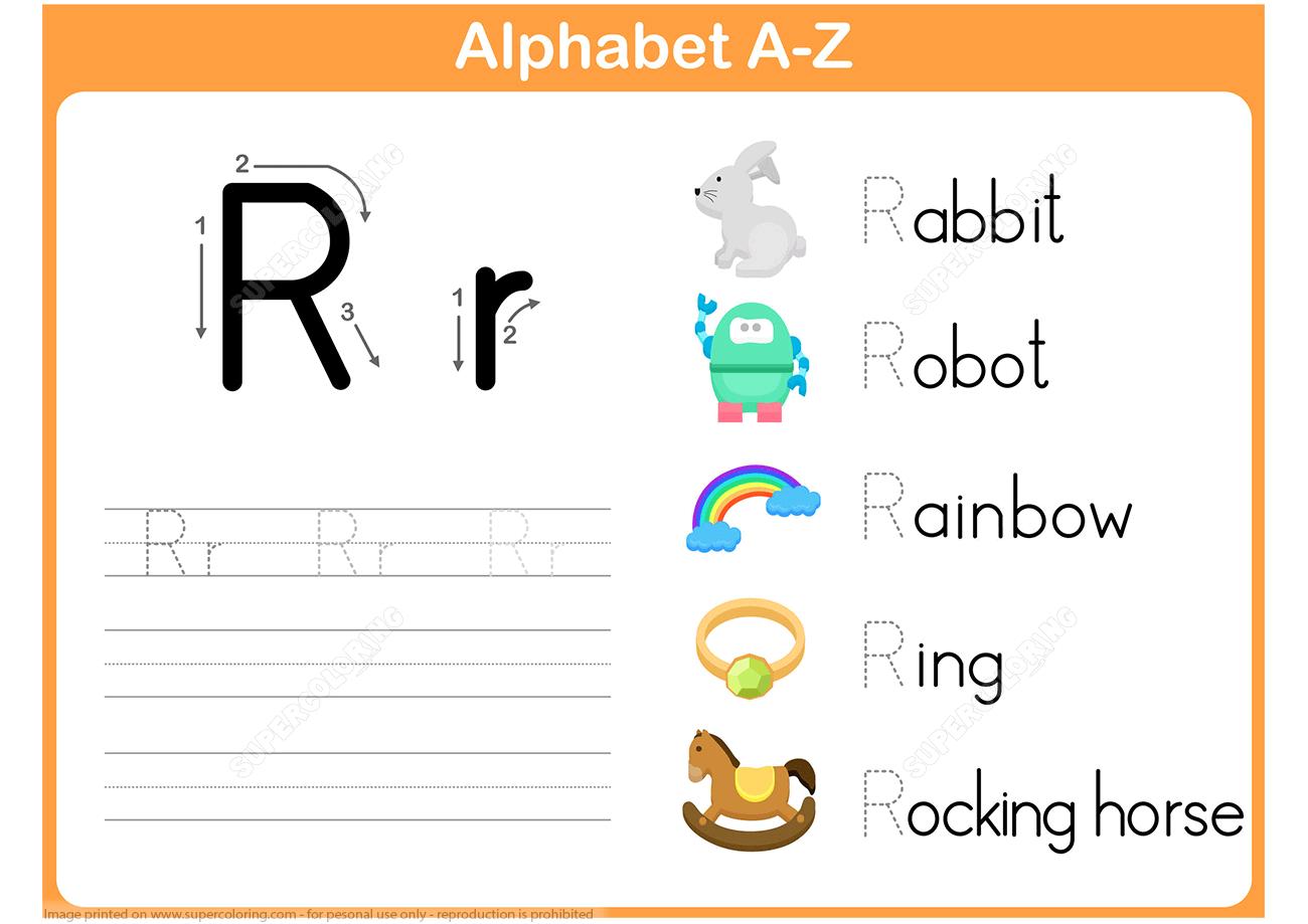 Letter R Tracing Worksheet