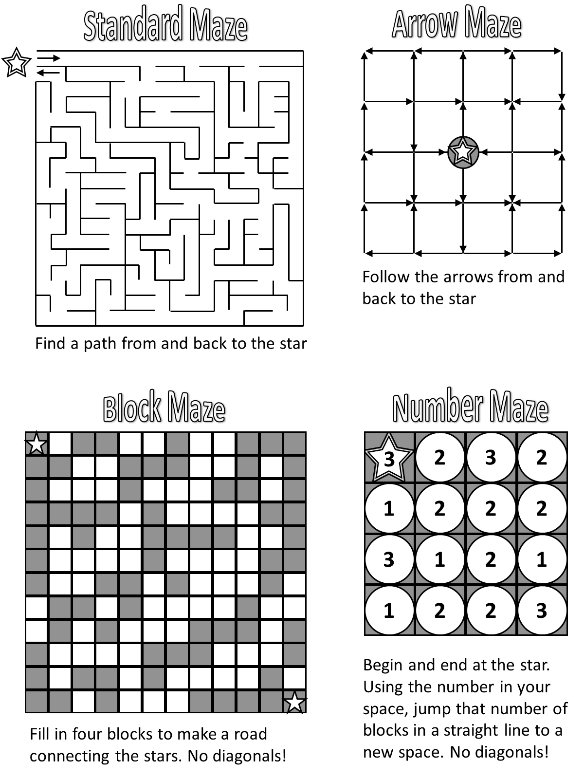 Maze Types Puzzles
