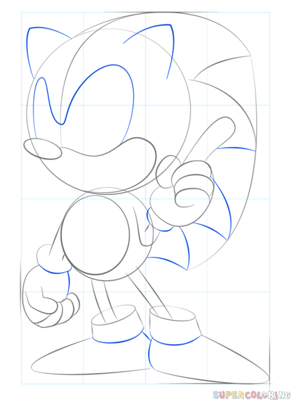 How To Draw Sonic The Hedgehog Step By Step Drawing Tutorials