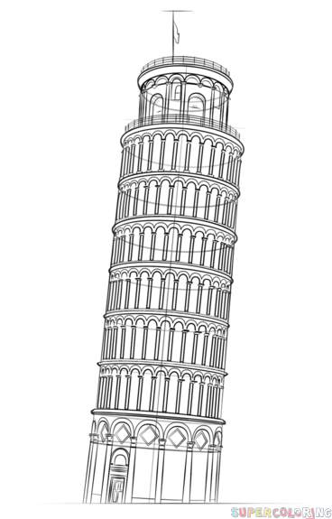 Leaning Tower Drawings