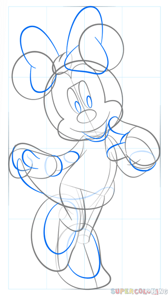 How To Draw Minnie Mouse Step By Step Drawing Tutorials