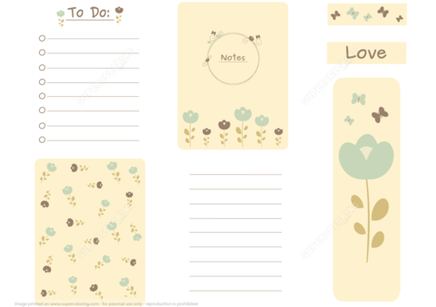 Romantic Printable Scrapbook Card Notes To Do List