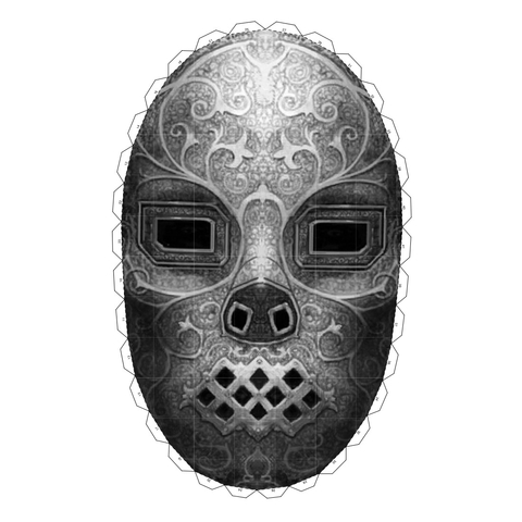 Death Eater Mask From Harry Potter Free Printable