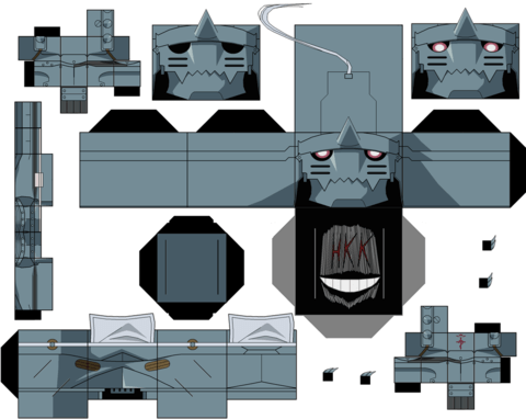 Alphonse Elric Paper Toy Free Printable Papercraft Templates