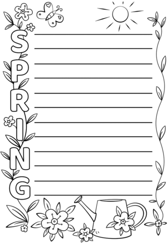 A template is something that establishes or serves as a pattern for reference. Spring Acrostic Poem Template Free Printable Papercraft Templates