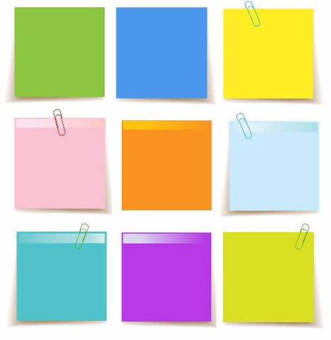 Set Of Sticky Notes Template Free Printable Papercraft