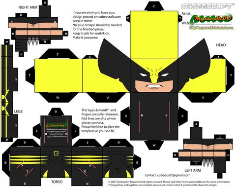 Wolverine Alternate Paper Toy Free Printable Papercraft