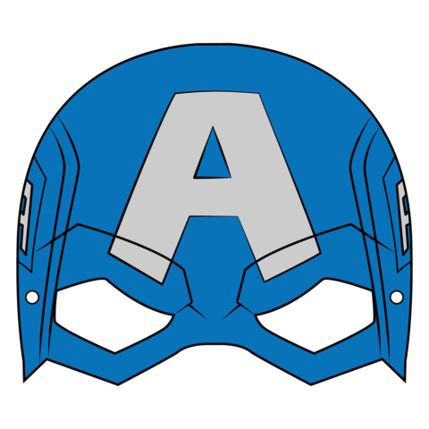 Captain America Mask Template Free Printable Papercraft