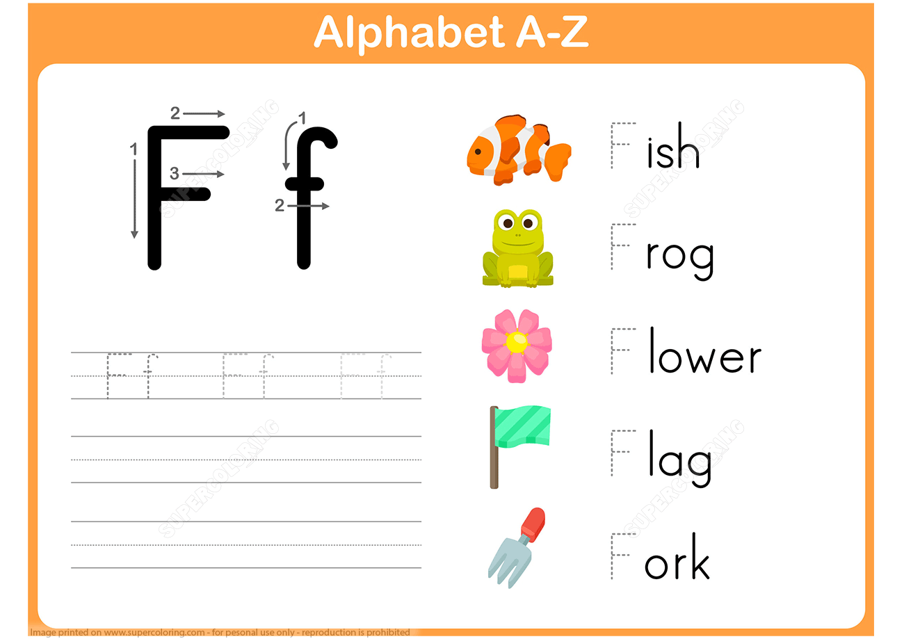 F Is For Fish Worksheet