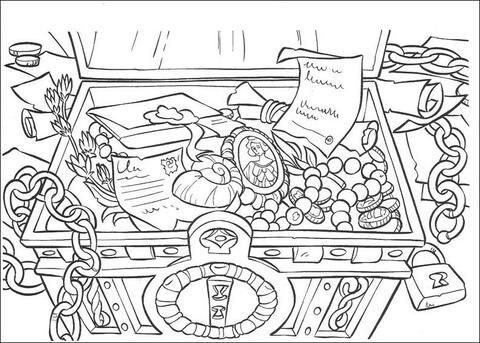 The Treasure Coloring Page Free Printable Coloring Pages