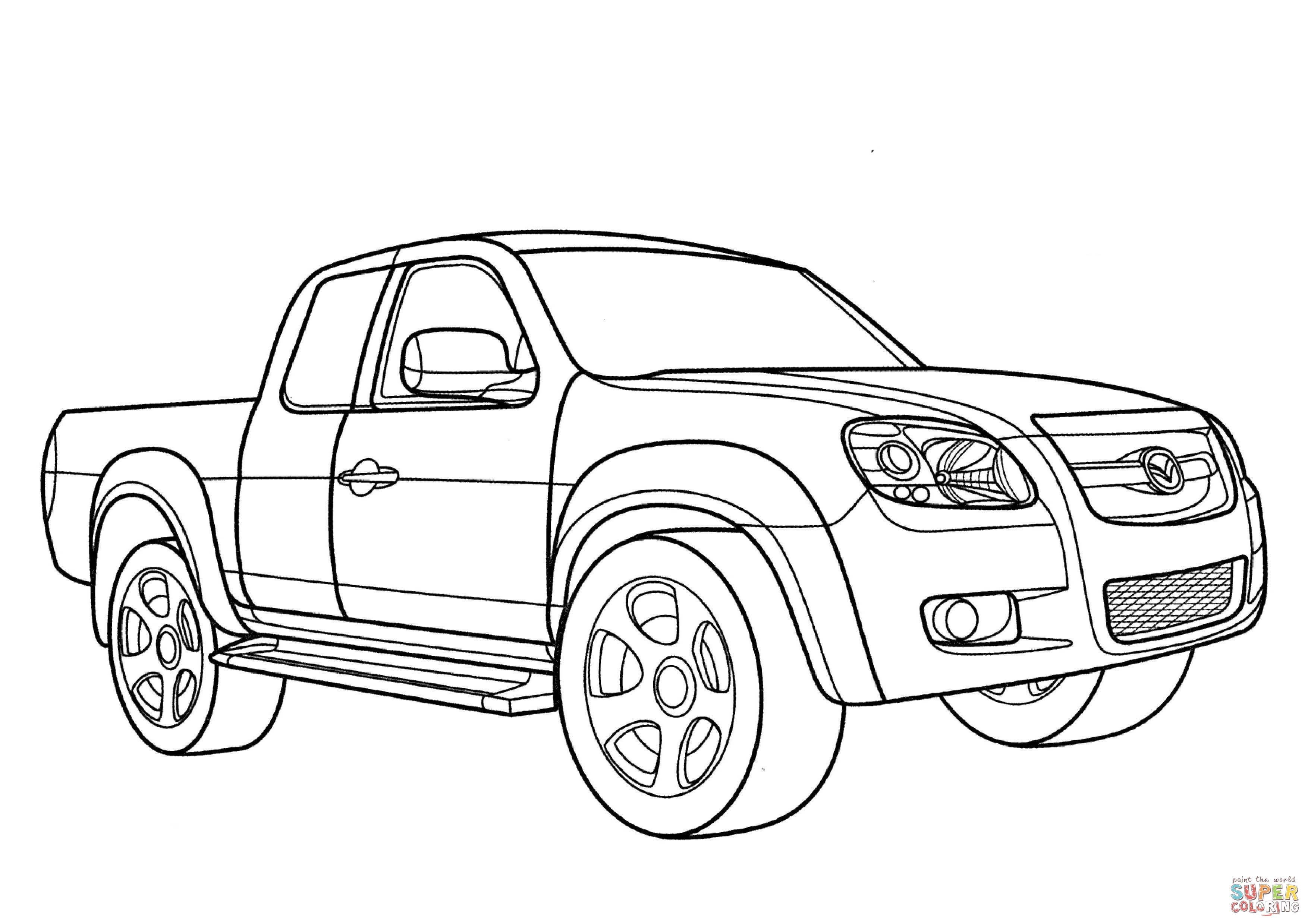 Mazda Bt 50 Coloring Online