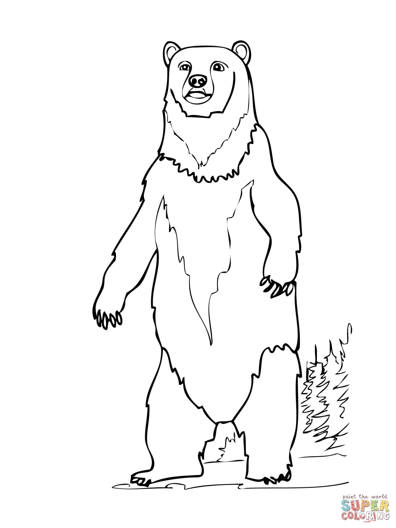 Angry Bear Standing Clip Art