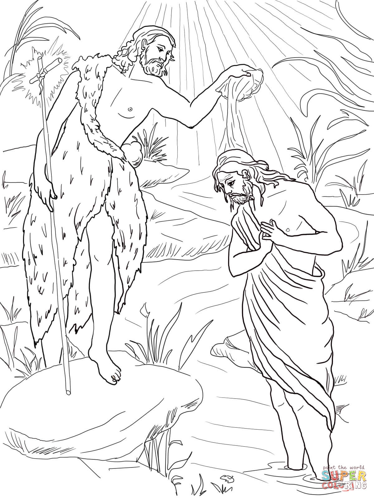 Baptism Coloring Pages Az Sketch Coloring Page