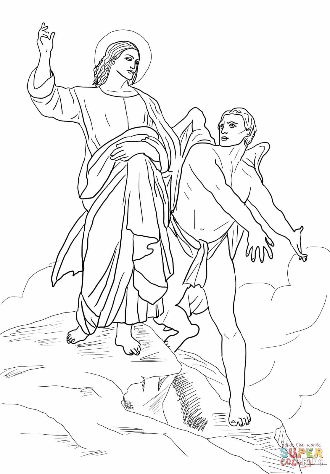 Jesus Being Tempted Coloring Pages Coloring Pages