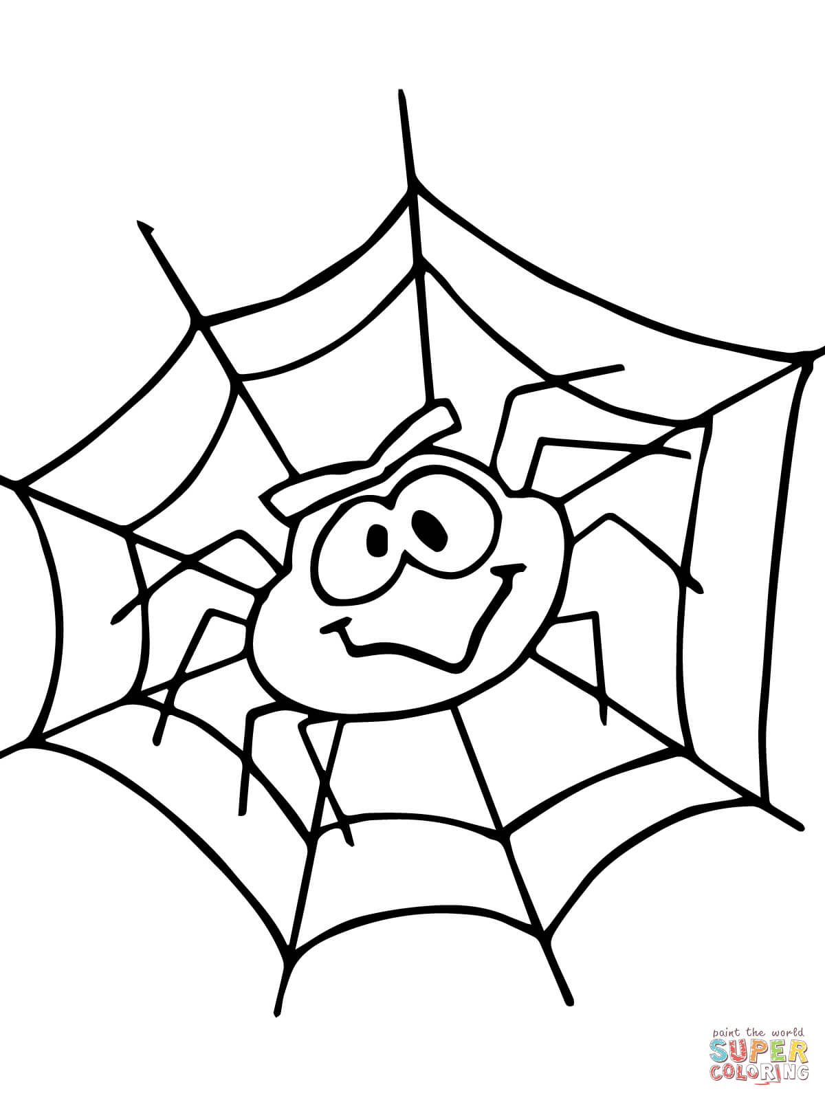 Incy Wincy Spider Coloring Pages