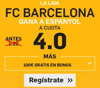 Supercuota Betfair la Liga Barcelona gana a Espanyol