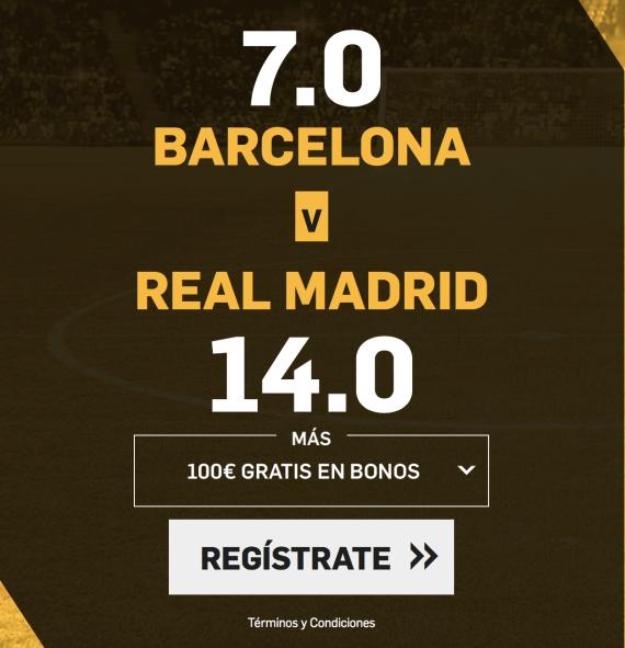 Supercuota Betfair Supercopa España Barcelona - Real Madrid