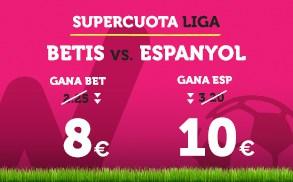 Supercuota Wanabet la Liga Betis vs Espanyol