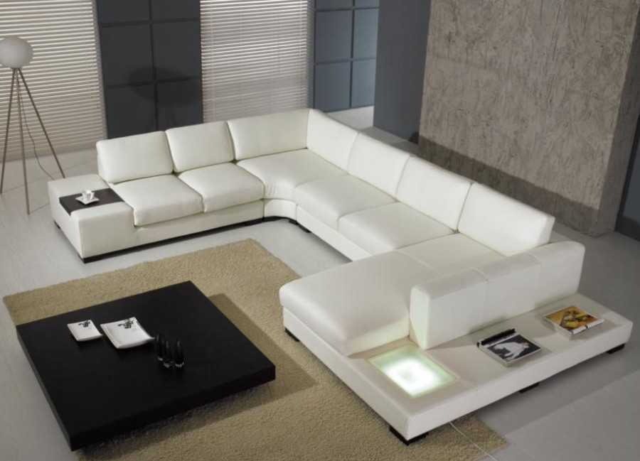 Modern Custom Leather Sofa Sectional Sofas And Furniture In : custom leather sectional - Sectionals, Sofas & Couches