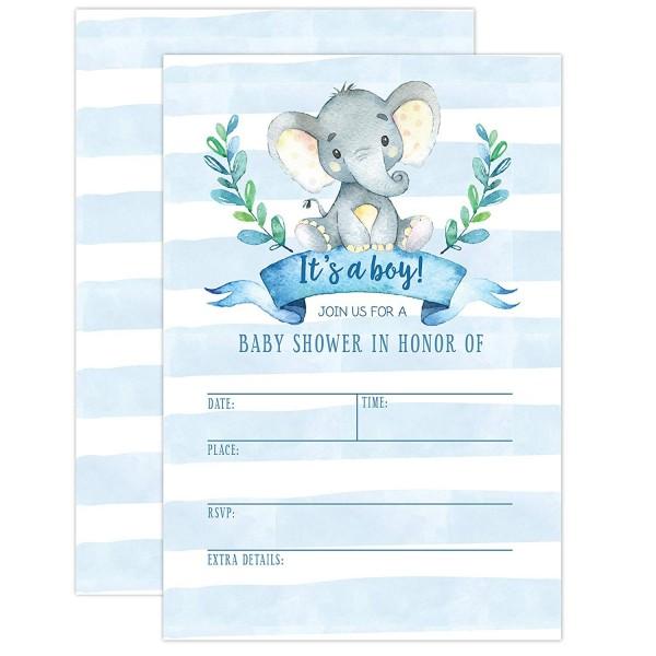 Boy Baby Shower Invitation Elephant Jungle Invite Tropical Safari Animals It S A 20 Fill