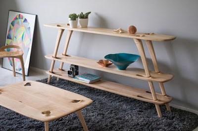 έξυπνη ξύλινη ραφιέρα