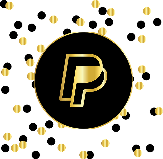 black and gold PayPal logos