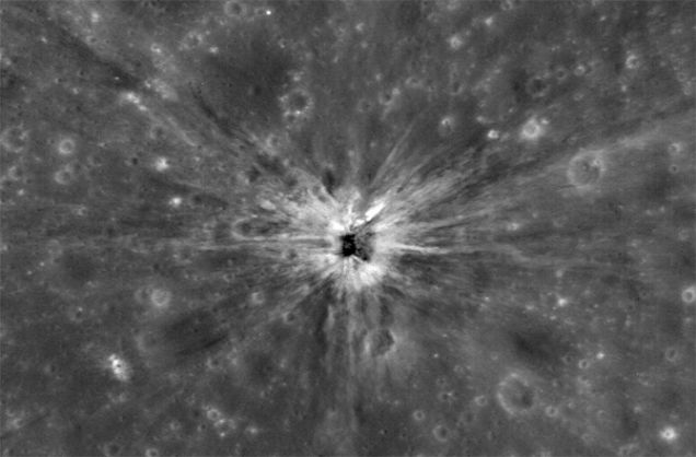 Apollo Third Stage Impact Crater