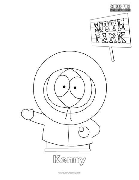 south park coloring pages # 1
