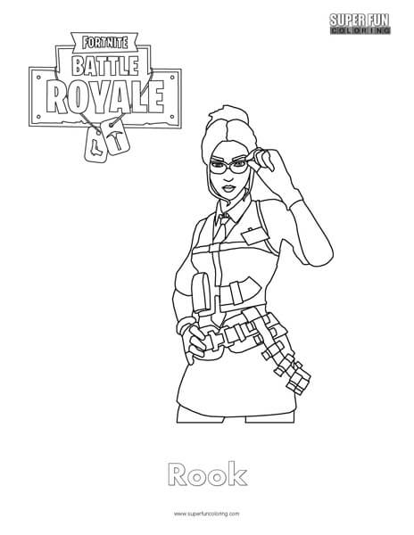Fortnite Head Coloring Page