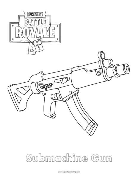 Fortnite Sniper Coloring Sheet