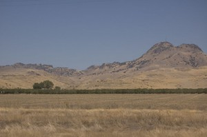 "The ""western butte"" about the only interesting thing to look at on highway 20. These are really, really old mountains."