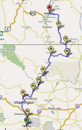 Day 2 - Trip Route Map